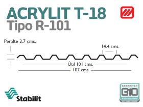 Lámina Acrílica T-18 Acrylit Geometría