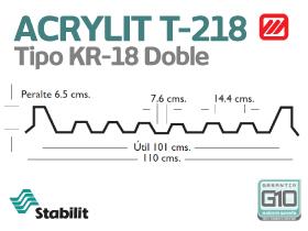 Lámina Acrílica T-218 Acrylit Geometría