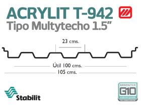 Lámina Acrílica T-942 Acrylit Geometría