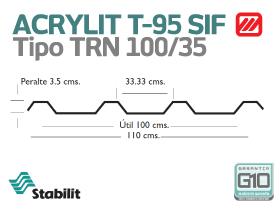 Lámina Acrílica T-95 SIF Acrylit Geometría