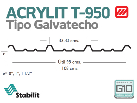 Lámina Acrílica T-950 Acrylit Geometría