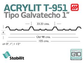 Lámina Acrílica T-951 Acrylit Geometría