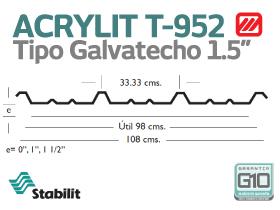 Lámina Acrílica T-952 Acrylit Geometría