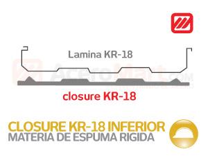 Closure Inferior KR 18